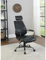 Gottberg Genuine Leather Task Chair Wrought Studio Upholstery: Antique Black