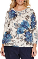 Alfred Dunner Alred Dunner Crew Neck Knit Pullover Sweater