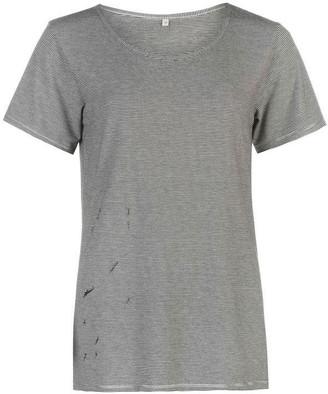 Firetrap Blackseal Distressed T Shirt Ladies