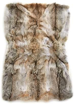HBC Stripes x Caroline Furs Coyote Fur Throw Blanket