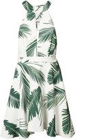 C/Meo leaf print mini-dress - women - Polyester - L