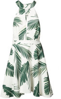 C/Meo leaf print mini-dress - women - Polyester - S