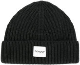 Dondup logo patch knitted beanie - men - Wool/Polyacrylic - One Size