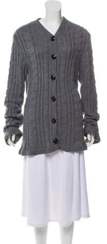 Balenciaga Medium Weight Knit Cardigan Grey Medium Weight Knit Cardigan