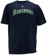 Majestic Men's Big and Tall Seattle Mariners Official Wordmark T-Shirt