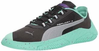 Puma Men's Replicat-X Sneaker Blackgreen Glimmer Silver 5 M US