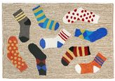 Liora Manné Trans Ocean Imports Frontporch Lost Socks Indoor Outdoor Rug