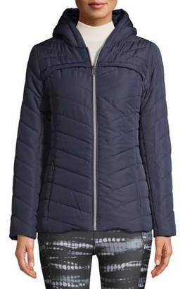 Pink Platinum Juniors' Midweight Quilt Faux Packable Puffer Jacket
