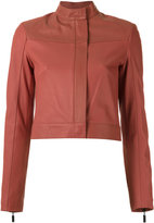Giuliana Romanno - leather jacket - women - Leather - 36