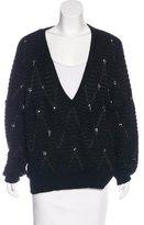 Thakoon Embellished V-Neck Sweater