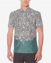 Perry Ellis Men's Classic-Fit Luau Colorblocked Floral-Print Shirt