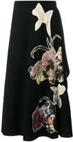 Valentino 'Kimono 1997' embroidered maxi skirt - women - Silk/Virgin Wool - 38