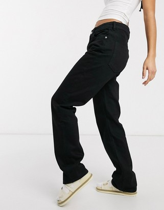 Weekday Voyage straight leg jeans in black