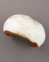 Nest African Horn Teardrop Earrings