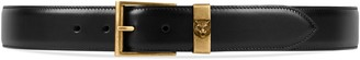 Gucci Leather belt with feline head