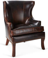 Brownstone Upholstery Thomas Wingback Chair - Cognac Leather