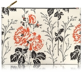 Victoria Beckham Floral Printed Leather Large Simple Pouch