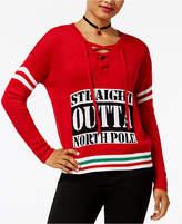 Ultra Flirt Juniors' Straight Outta Holiday Sweater