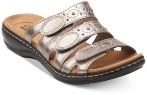 Clarks Collection Women's Leisa Cacti Q Flat Sandals Women's Shoes