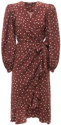 Johanna Ortiz Printed Silk Crepe De Chine Wrap Dress