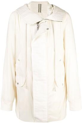 Rick Owens zipped hooded parka coat