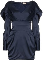 Alexandre Vauthier Ruched Sleeve Mini Dress