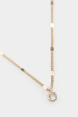 francesca's Jazmin Delicate Crystal Pendant Necklace - Crystal