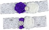 Sbra Wedding Bridal Garter Set 2-Piece Several Style for Flowers and Pearls