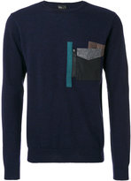 Kolor stylized pocket sweatshirt