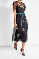 RED Valentino Embroidered Maxi Tulle Dress