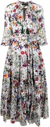Samantha Sung Eden botanical print maxi dress