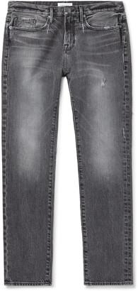 Frame L'homme Slim-Fit Distressed Denim Jeans