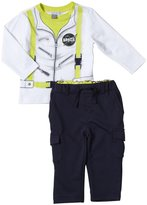 Petit Lem Space Boy 2 Piece Pant Set (Baby) - Blue-3 Months