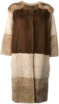 Liska - panel coat - women - Mink Fur/Persian Lamb Fur - S