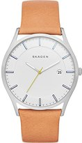 Skagen Men's SKW6282 Holst Light Brown Leather Watch