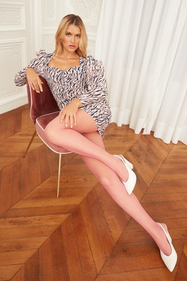 Nasty Gal Womens Herd You Love Me Zebra Mini Dress - Pink - 4