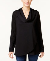 Style&Co. Style & Co. Cowl-Neck Crossover-Hem Top, Only at Macy's
