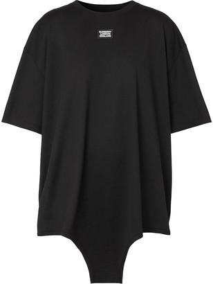 Burberry cut-out hem logo applique T-shirt