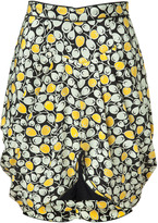 Anna Sui Multicolor Printed Tulip Skirt