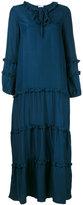 P.A.R.O.S.H. frill trim tent dress - women - Silk - S