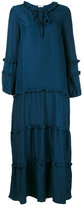 P.A.R.O.S.H. frill trim tent dress - women - Silk - XS