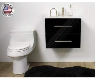 Napa 29'' Wall Mounted Single Bathroom Vanity Base Only MTD Vanities Base Finish: Glossy Black