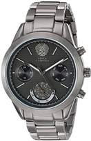 Vince Camuto Women's Quartz Watch with Black Dial Analogue Display and Grey Stainless Steel Bracelet VC-5243GYGY
