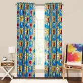 Crayola Monster Friends 84-Inch Window Curtain Panel in Blue/Green