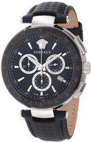 Versace Men's I8C99D008 S009 Mystique Black IP Bezel Chronograph Tachymeter Watch