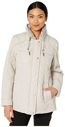 Vince Camuto Quilted Jacket V10706-ZA (Oyster) Women's Clothing