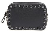 Valentino Rockstud Leather Pouch - Black