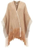 Wehve - Fringed Merino Wool-blend Cardigan - Womens - Brown