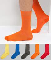 Asos Socks In Bold Colors 5 Pack