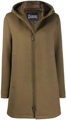 Herno Hooded Zip-Up Coat